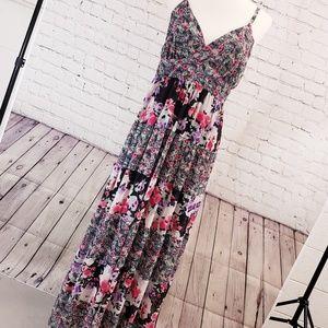 Torrid floral maxi dress. Size 0(plus) black